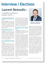 Interview de Laurent Benoudiz - La Profession Comptable N°404 - Octobre 2016